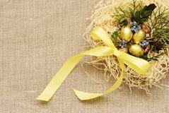 Złoci jajka Zdjęcie Stock