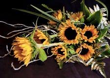 Złoci Kwiaty Fotografia Stock