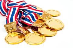złoci nagroda medale zdjęcia stock