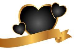 złoci serca Zdjęcia Royalty Free