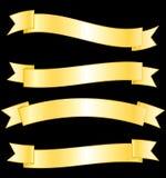 Złoci sztandary inkasowi. Obrazy Stock