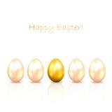 Złoci Wielkanocni jajka Obraz Royalty Free