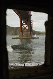 Złoci wrota most Zdjęcie Royalty Free