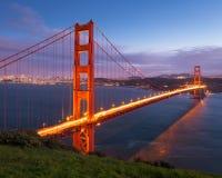 Złoci Wrota most przy zmierzchem Fotografia Royalty Free