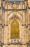 Złoci Wrota St. Vitus katedra w Praga Fotografia Royalty Free
