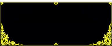 Złocista fotografii rama kwiecista dla obrazka Fotografia Stock