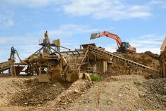 Złocista górnicza operacja Zdjęcie Royalty Free