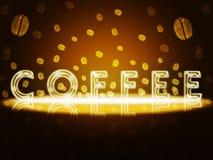 Złocista kawa. ilustracji