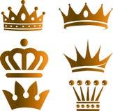 Złocista korona Zdjęcie Royalty Free