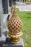 złocista lotosowa statua Zdjęcie Royalty Free