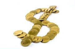 Złocista moneta Zdjęcie Stock