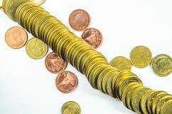 Złocista moneta Fotografia Royalty Free