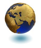 złocista planeta Zdjęcia Royalty Free