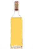 Złocista tequila butelka Fotografia Royalty Free