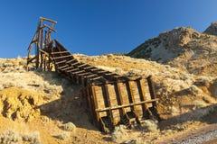 Złocista wzgórze rocznika kopalnia Obraz Royalty Free