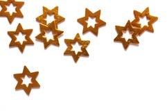 złociste gwiazdy Zdjęcia Royalty Free