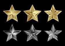 złociste gwiazdy royalty ilustracja