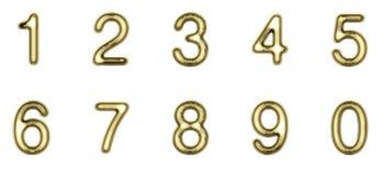 Złociste liczby Fotografia Stock