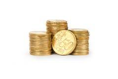 Złocistej monety sterta Zdjęcie Royalty Free