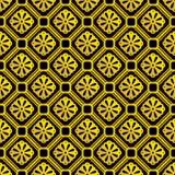 Złocisty bezszwowy geometryczny retro wzór dla projekta Fotografia Royalty Free