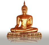 Złocisty Buddha statuy â Wat Pho, Bangkok, Tajlandia Zdjęcia Royalty Free