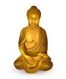 Złocisty Buddha, wektor Ilustracja Wektor
