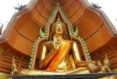złocisty Buddha wizerunek w Thailand Obrazy Stock