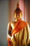 złocisty Buddha wizerunek w Thailand Zdjęcie Stock