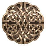 Złocisty Celtycki ornament Zdjęcia Stock