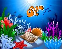 Złocisty coralreef Fotografia Royalty Free