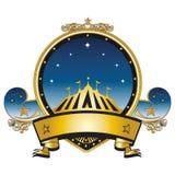 Złocisty cyrka znaczek Zdjęcie Royalty Free