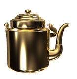 złocisty czajnik Zdjęcia Stock
