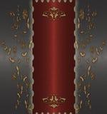 złocisty czerwony rocznik Obrazy Royalty Free