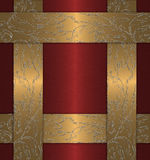 złocisty czerwony rocznik Zdjęcia Royalty Free