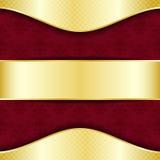 złocisty czerwony szablon Fotografia Stock