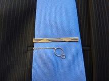 Złocisty hairpin dla krawata Obraz Stock