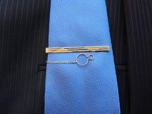 Złocisty hairpin dla krawata Zdjęcia Stock