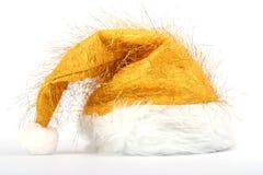 złocisty kapeluszowy Santa Obraz Stock
