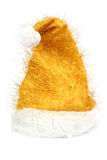 złocisty kapeluszowy Santa Obraz Royalty Free