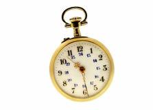 złocisty kieszeniowy zegarek Zdjęcia Royalty Free