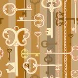 Złocisty klucza wzór Fotografia Stock