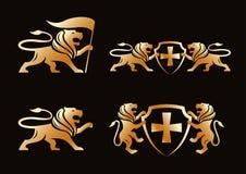 Złocisty lew royalty ilustracja