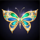 Złocisty motyl Fotografia Royalty Free