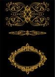 Złocisty ornament w sztuki nouveau stylu Zdjęcia Royalty Free