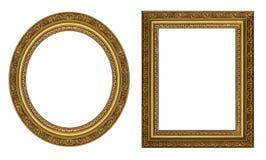 złocisty rama obrazek Obrazy Royalty Free