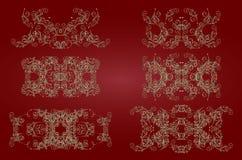 Złocisty rocznika wzór Obrazy Royalty Free
