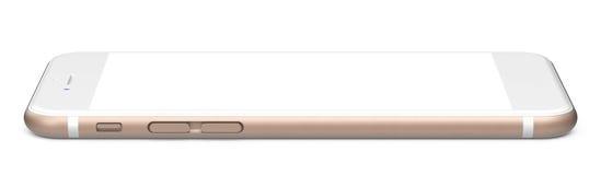 Złocisty smartfon Zdjęcie Stock