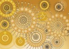 Złocisty Tapetowy abstrakt Zdjęcie Royalty Free