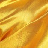 Złocisty tkanina jedwab Obrazy Stock