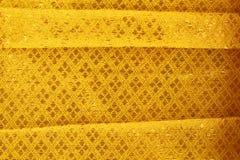 Złocisty tkanina jedwab Fotografia Stock